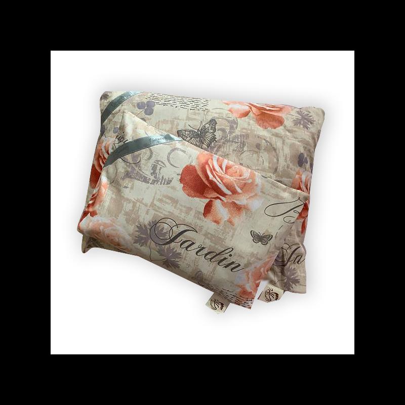 Gyógynövényekkel töltött alvópárna vintage rózsamintával (40cm*32cm)