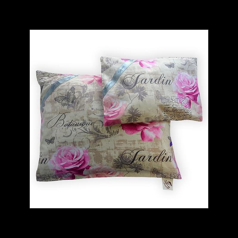 Gyógynövényekkel töltött alvópárna pink rózsamintával